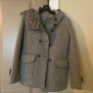 🔥Sale🔥Swiss Chris's Grey Wool Hooded Coat IT 42